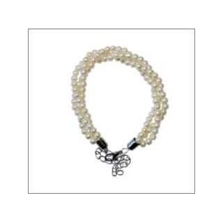 Pulsera triple de perlas, medida ajustable
