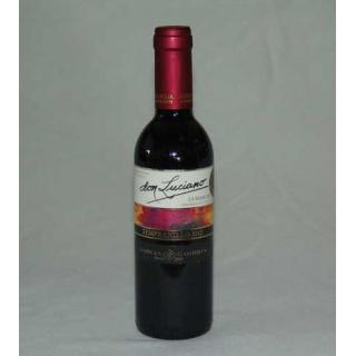 Botella de vino tempranillo don luciano D.O La Mancha 37,5 cl