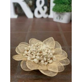Pack de 45 alfileres con Canasta en forma de flor con rafia