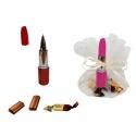 BOLIGRAFO PINTALABIOS + 3 BOMBONES CARAMELO EN BOLSA DE TULL (8940)
