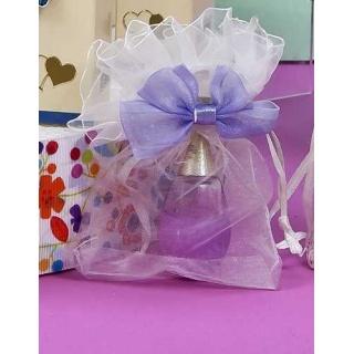 Perfume en bolsa de organza con lazo