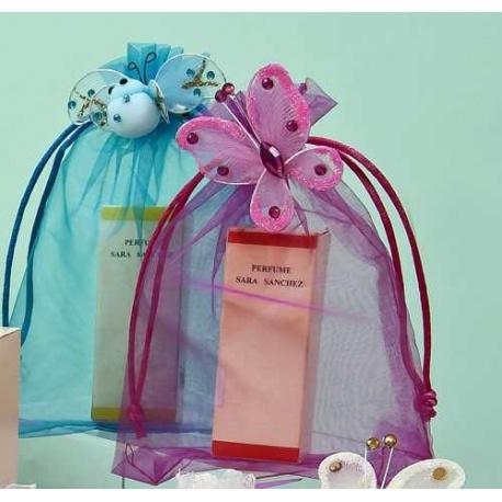 Perfume y broche abeja. Perfume y broche mariposa. (precio por unidad)
