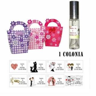 Colonia personalizada olor a rosas para regalos de boda