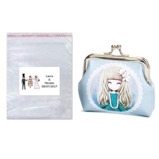 Monedero en bolsa con tarjeta lote regalo