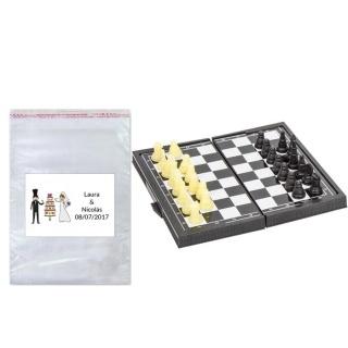 pack Juego ajedrez en bolsa y tarjeta