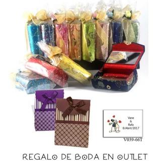 Pack de estuche con espejo para barra de labios con bolsa y tarjeta