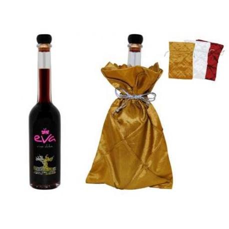 BOTELLA DE VINO DULCE (10 cl.) + BOLSA TELA ROMBOS (8538)