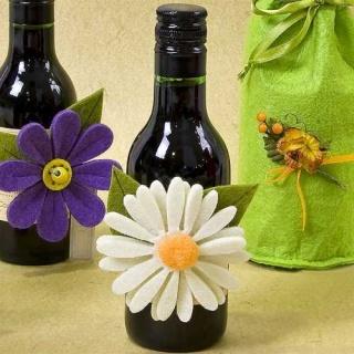 Botellas de vino con Flor (precio unidad)