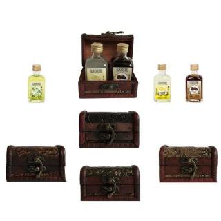 Baúl + 2 botellas de licor regalos de boda