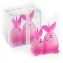 Velas de conejitos rosa (precio unidad)