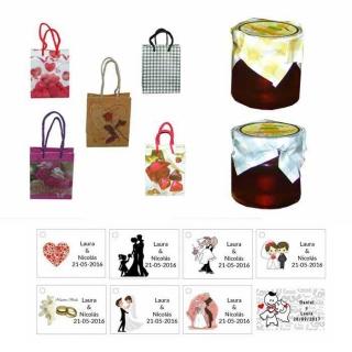 Miel con bolsa y tarjeta personalizada
