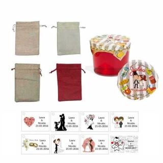 jalea boda 150 gr. de membrillo con bolsa de asas y tarjeta