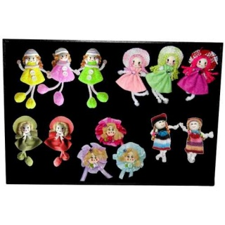 Expositor con 13 broches de muñecas