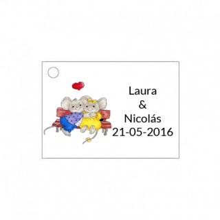 Tarjetita de boda original de ratoncitos
