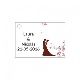 Tarjetita de boda para adornar los detallitos de boda