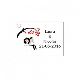 Tarjetitas de boda para adornar los detalles de boda