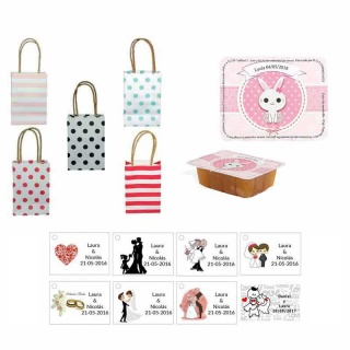 dulce membrillo 125gr niña bebe con bolsas originales y tarjeta