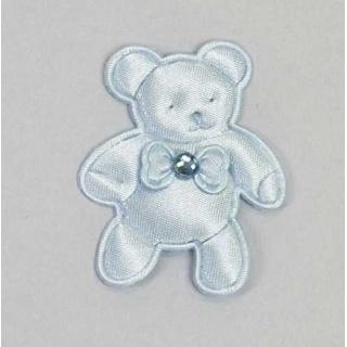 Pin oso brillo azul