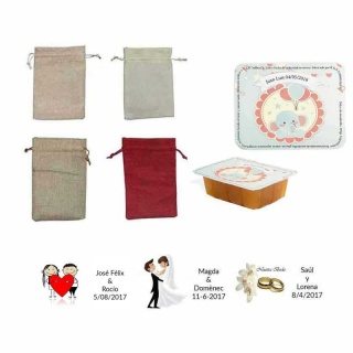 dulce membrillo 125gr niño bebe con bolsa de asas y tarjeta