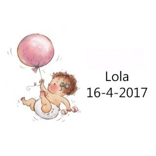 Tarjetita de bebe con globo