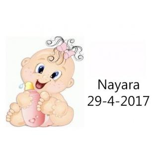Tarjetita de bebé para niña y biberón