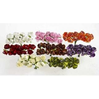 Bolsa 12 pomos con rosas brillo surtidas