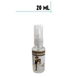 Bote de spray con Gel Hidroalcohólico 20ml con pegatina de boda