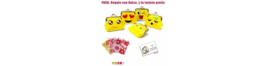 Packs monederos para niña