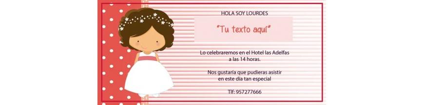 Invitaciones y recordatorios para celebración infantil